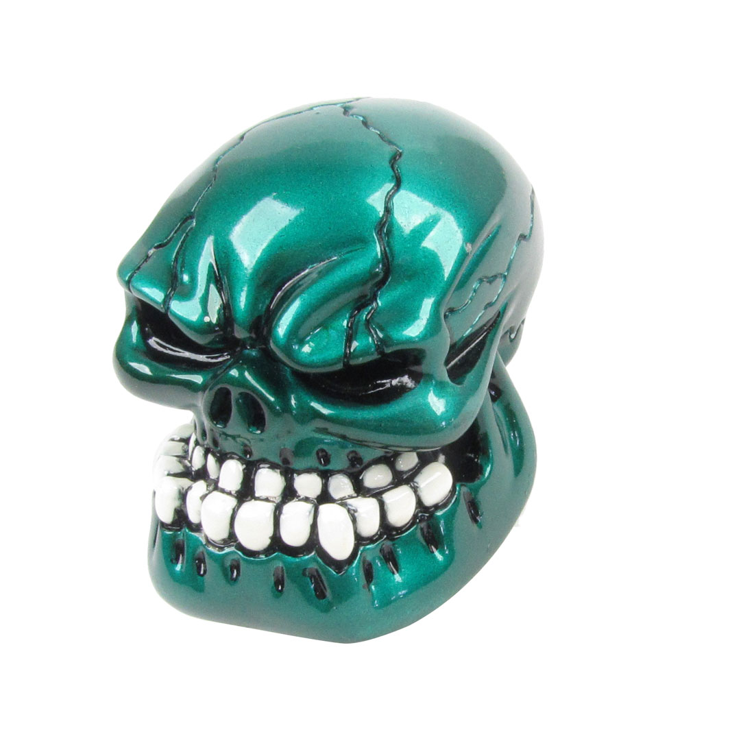 Universal Car Truck Wicked Cracked Skull Stick Shift Gear Knob Dark Green