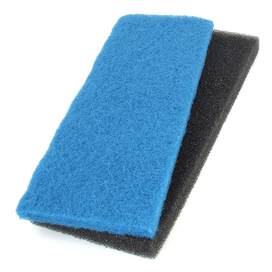 """2 Pcs Blue Black 12.6"""" Long Biochemical Filter Sponges for Aquarium"""