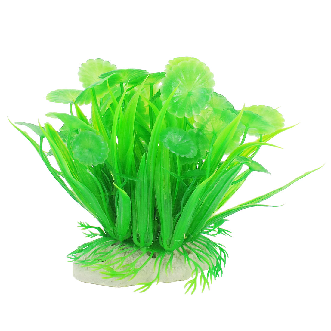 Fish Tank Aquarium 12cm Emulational Green Patellate Shape Plastic Leaves Plant
