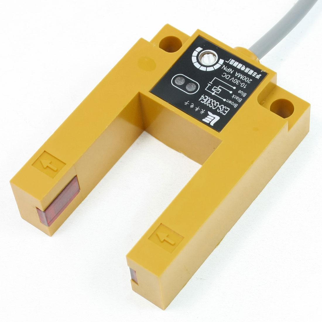 DC 10-30V 200mA 3 Wires Groove Type Photoelectric Sensor E3S-GS30E4
