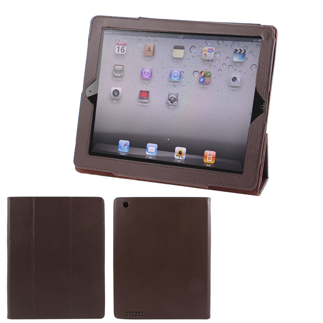 "Coffee Color Faux Leather Magnetic Stand Case Cover for 9.7"" 10"" 10.1"" Tablet PC"