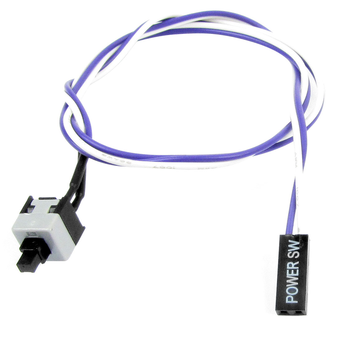 50cm Purple White Flexible Power Switch Button Cable for PC Computer