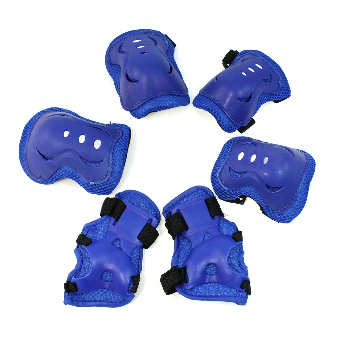 Detachable Black Blue Arch Shape Skating Protector Knee Elbow Palm Support Set
