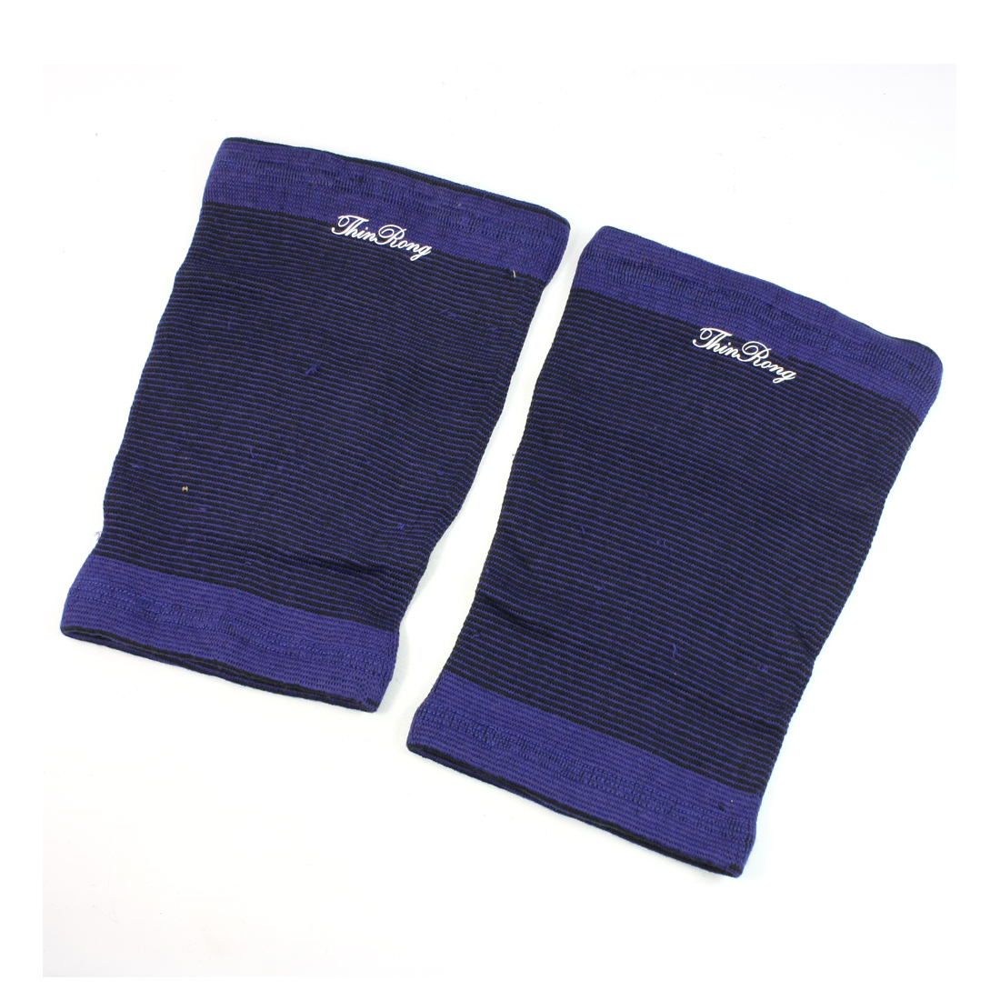 Sports Protector Pullover Wearing Textured Elastic Blue Black Knee Support Pair