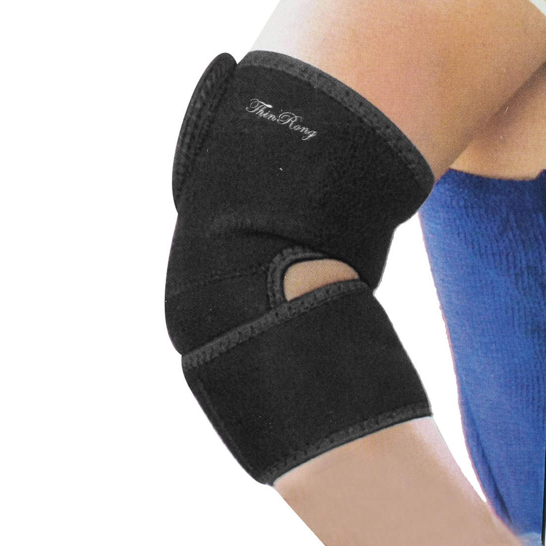 Sports Protective Black Stretchy Elbow Support Sleeve Brace