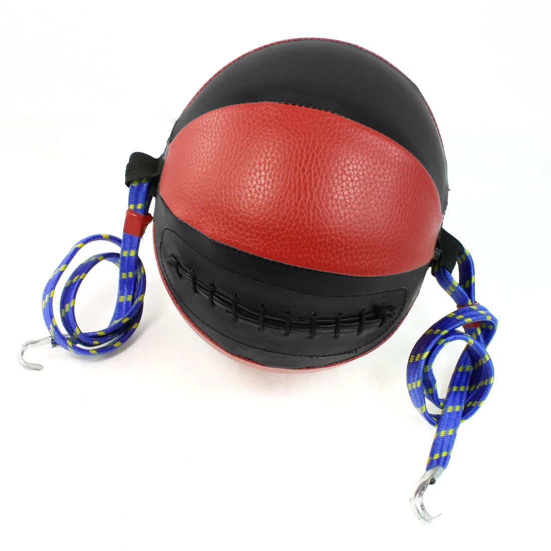 Boxing Sports Stretchy Rope Both End Black Red Faux Leather Speed Ball