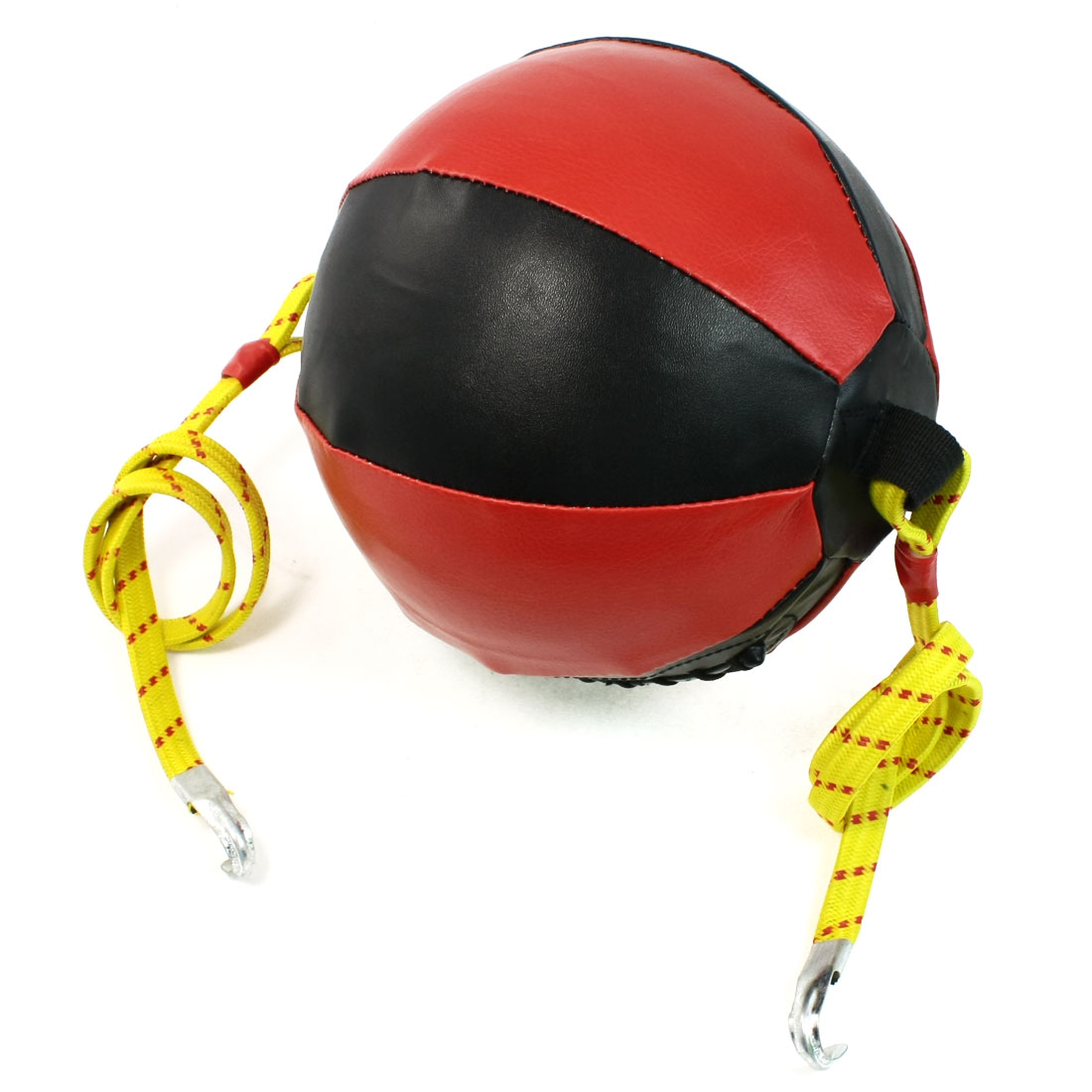 Coordination Exercise Red Black Faux Leather Speed Ball Bag for Boxing Sports