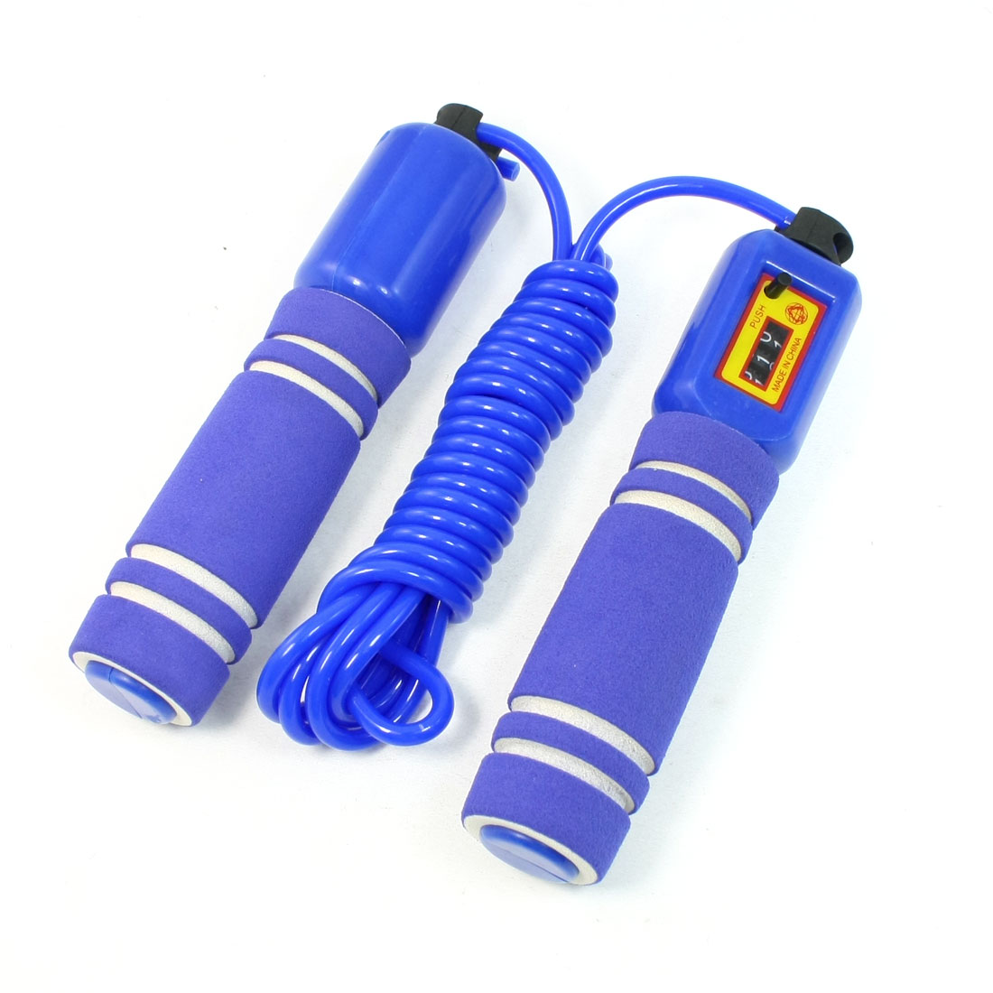 Exercise Training Foam Cover Anti Slip Grip Jump Rope Blue 2.8M Length