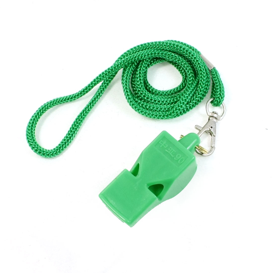 Outdoor Activities Portable Plastic Referee Whistle Green w Lanyard