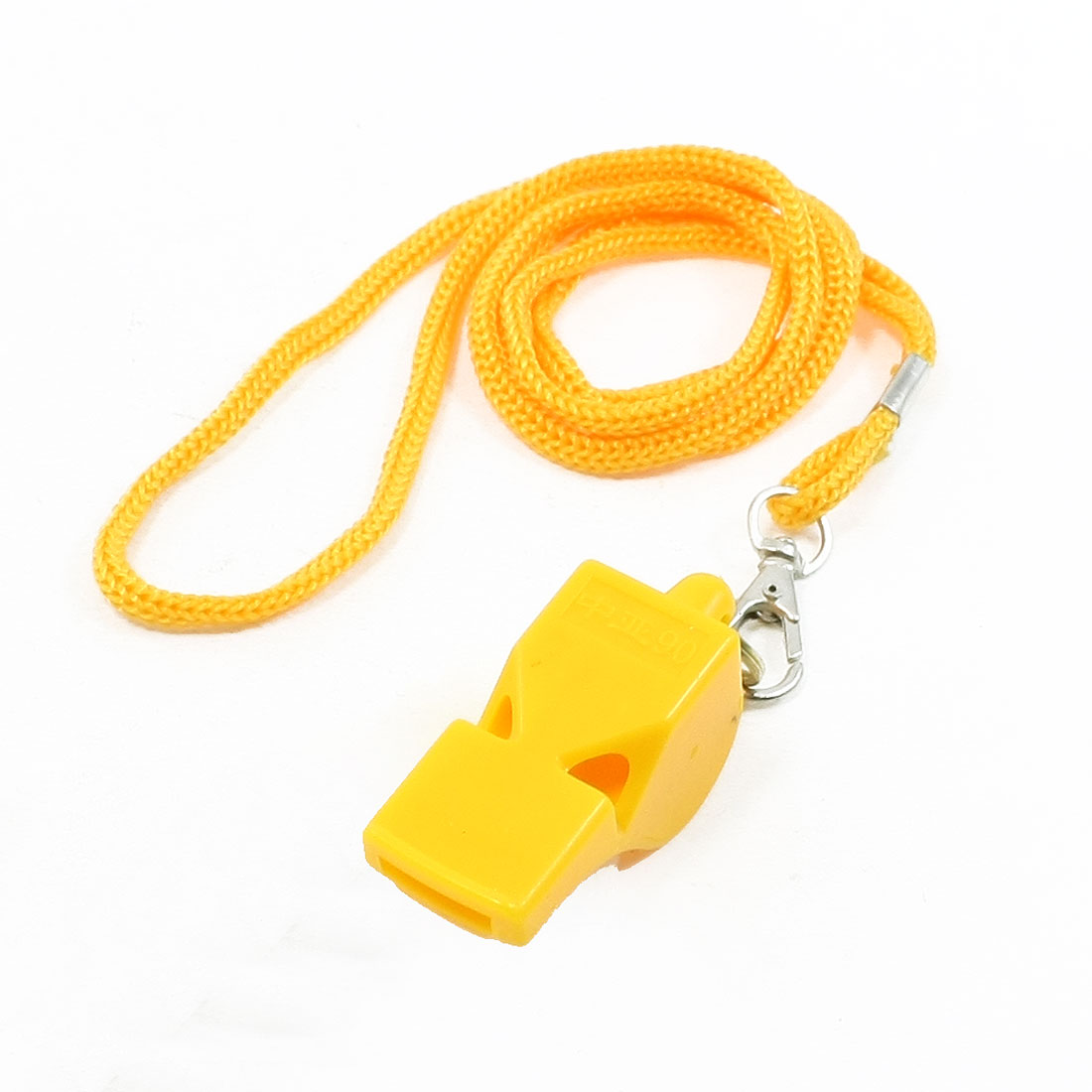 Outdoor Activities Portable Referee Whistle Yellow w Nylon Lanyard