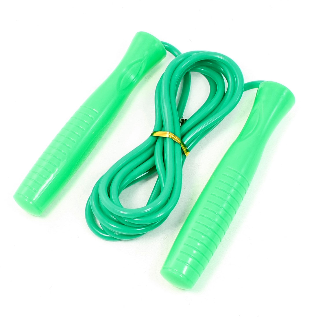 Anti Slip Hard Plastic Grip Plastic Flexible Skipping Rope Green 9.2Ft