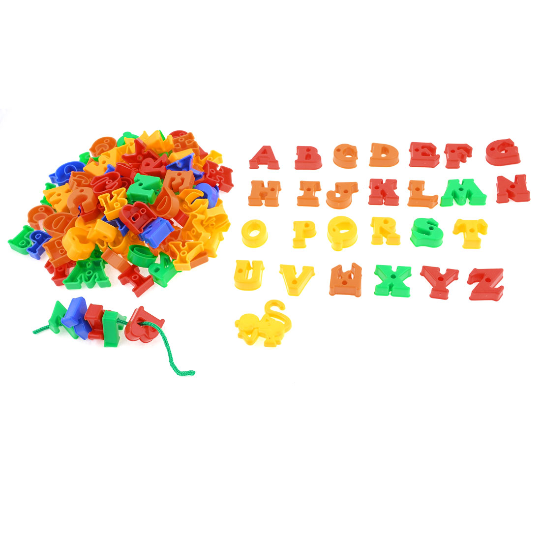123 in 1 Multicolor Letter A-Z Mental Assembly Building Block Toy for Kid Child