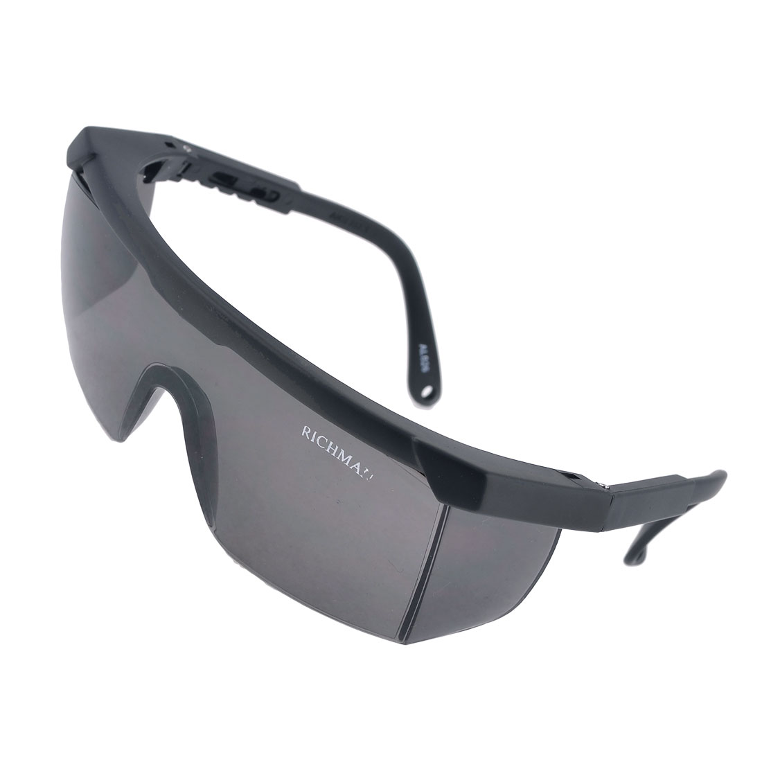 Black Frame Dark Gray Single Lens Dustproof Windproof Glasses for Man