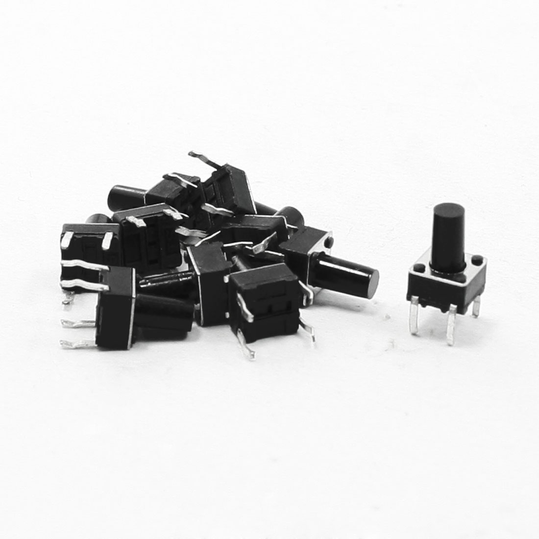 10 Pcs 6x6x9.5mm 4 Pins DIP PCB Momentary Tactile Tact Push Button Switch