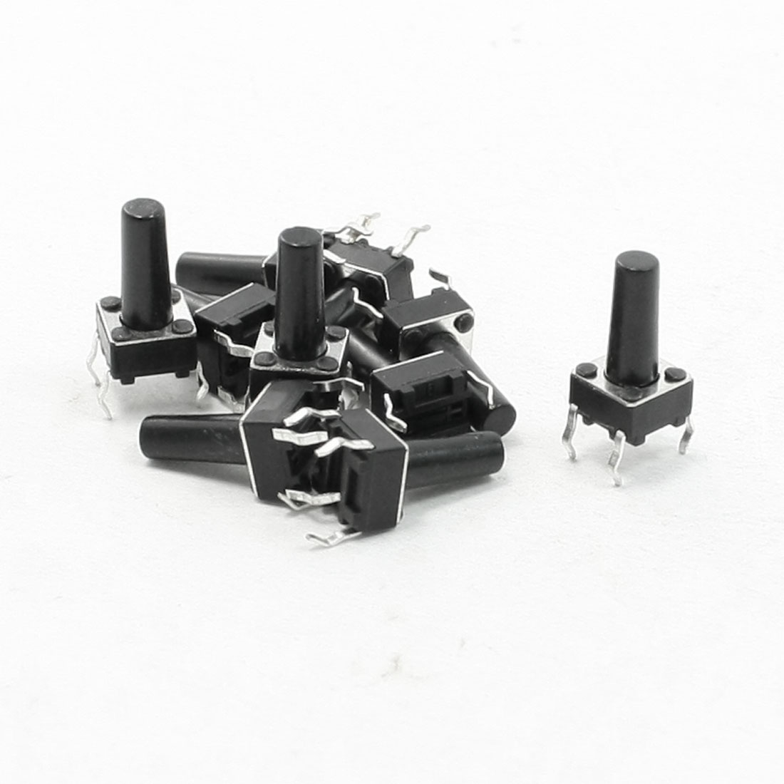 10 Pcs 6x6x12mm 4 Pins DIP PCB Momentary Tactile Tact Push Button Switch