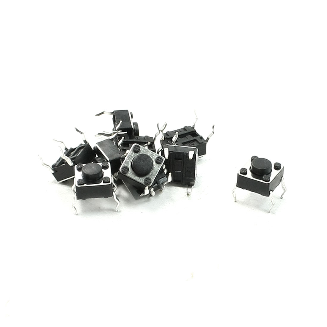 10 Pcs 6x6x4.3mm 4 Pins DIP PCB Momentary Tactile Tact Push Button Switch