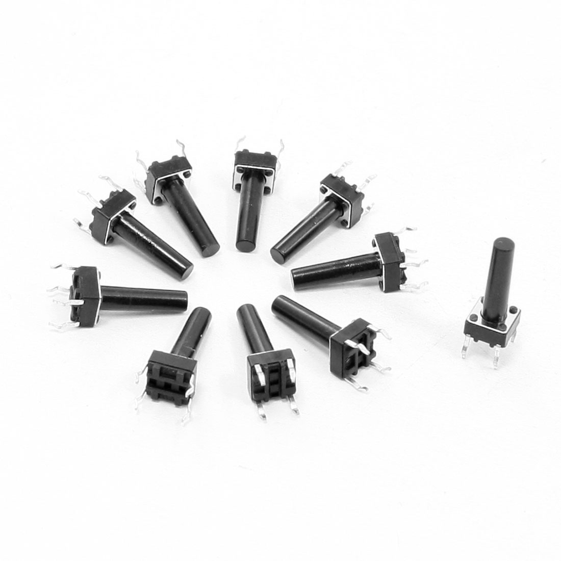 10 Pcs 6x6x16mm 4-Pin DIP PCB Momentary Tactile Tact Push Button Switch
