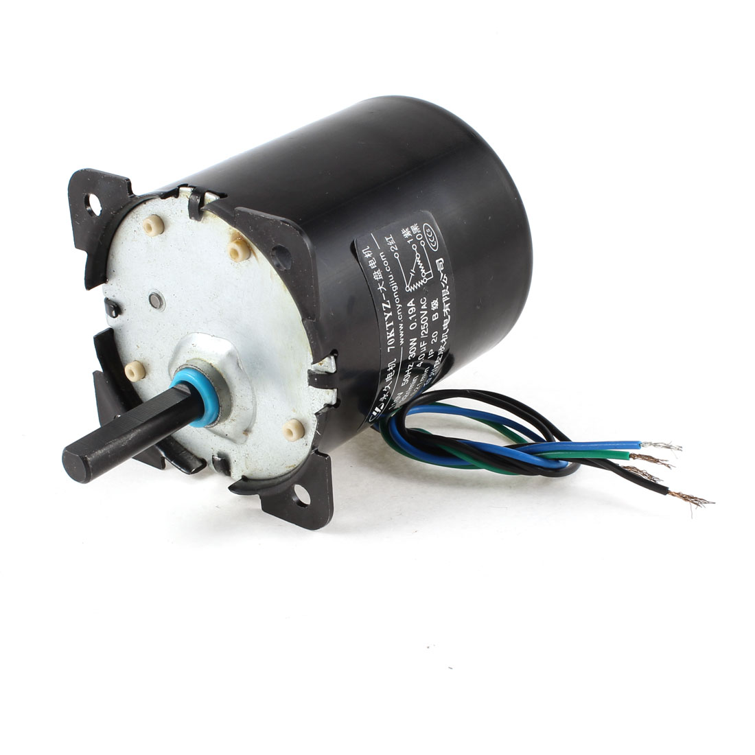 Uxcell(R) AC 110V 0.19A 30W 32r/min Speed 8mm Shaft Diameter Synchronous Gear Motor