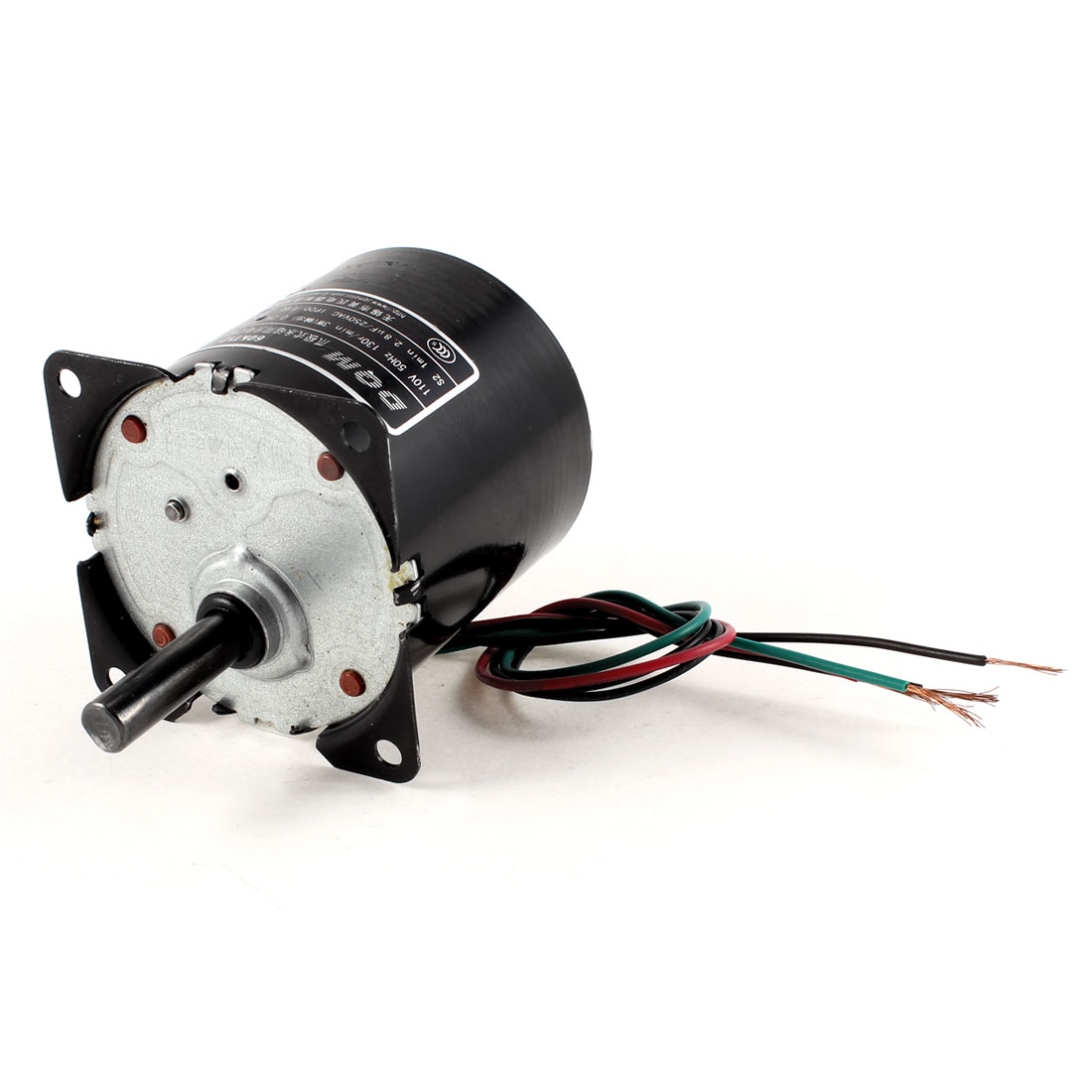 Uxcell(R) AC 110V 0.2A 3W 130r/min Speed 8mm Shaft Diameter Synchronous Gear Motor