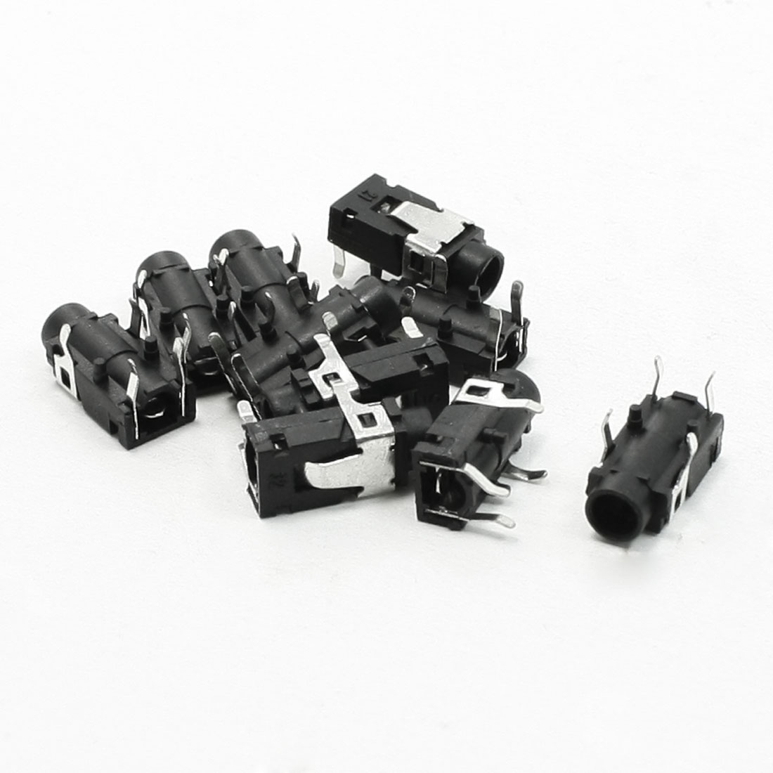 "10 Pcs PCB Panel Mount 4 Pin 1/8"" 3.5mm Female Socket Stereo Headphone Jack"