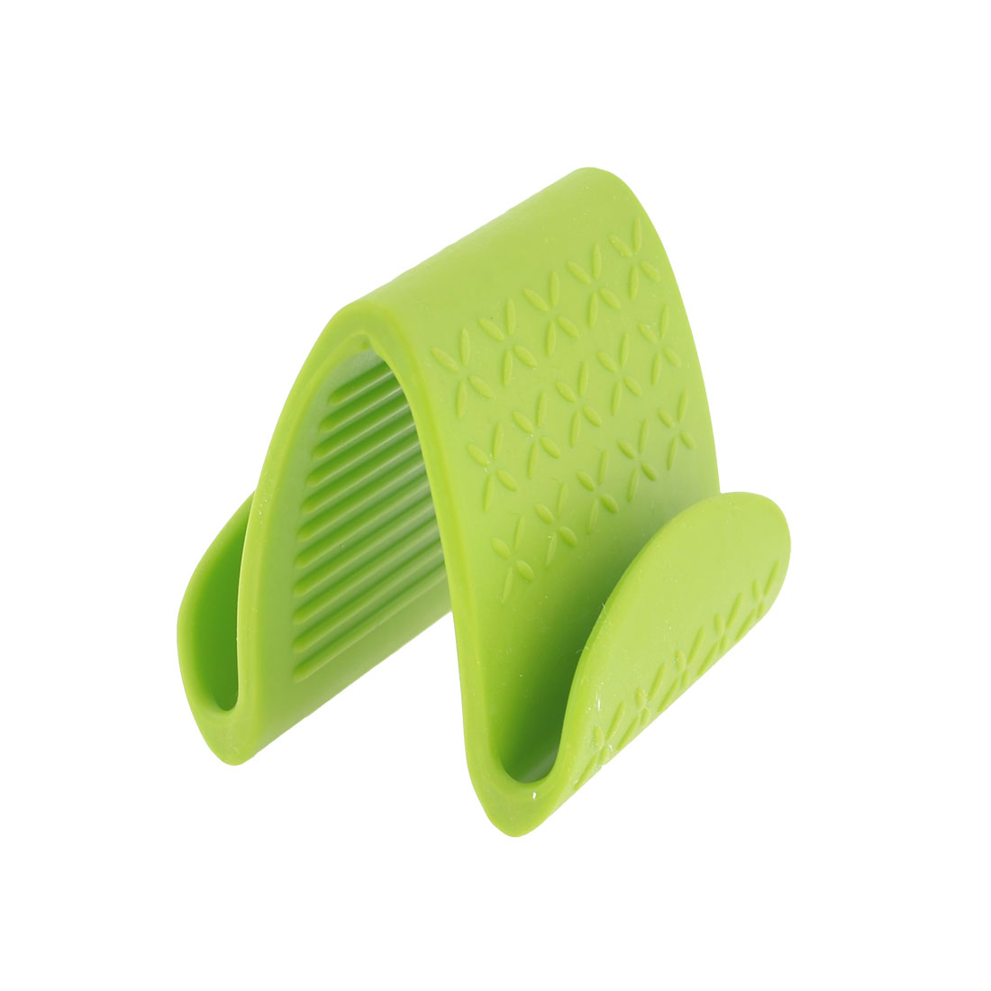 Plastic Olive Green Nonslip Heat Insulator Clip for Microwave Oven