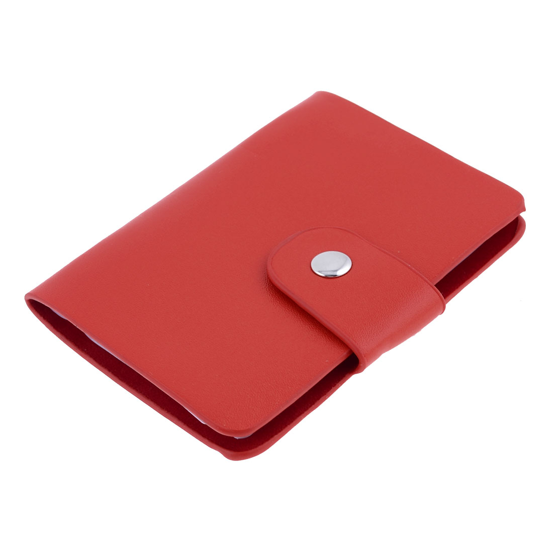 Red Faux Leather 12 Compartments Business Name VIP ID Card Holder