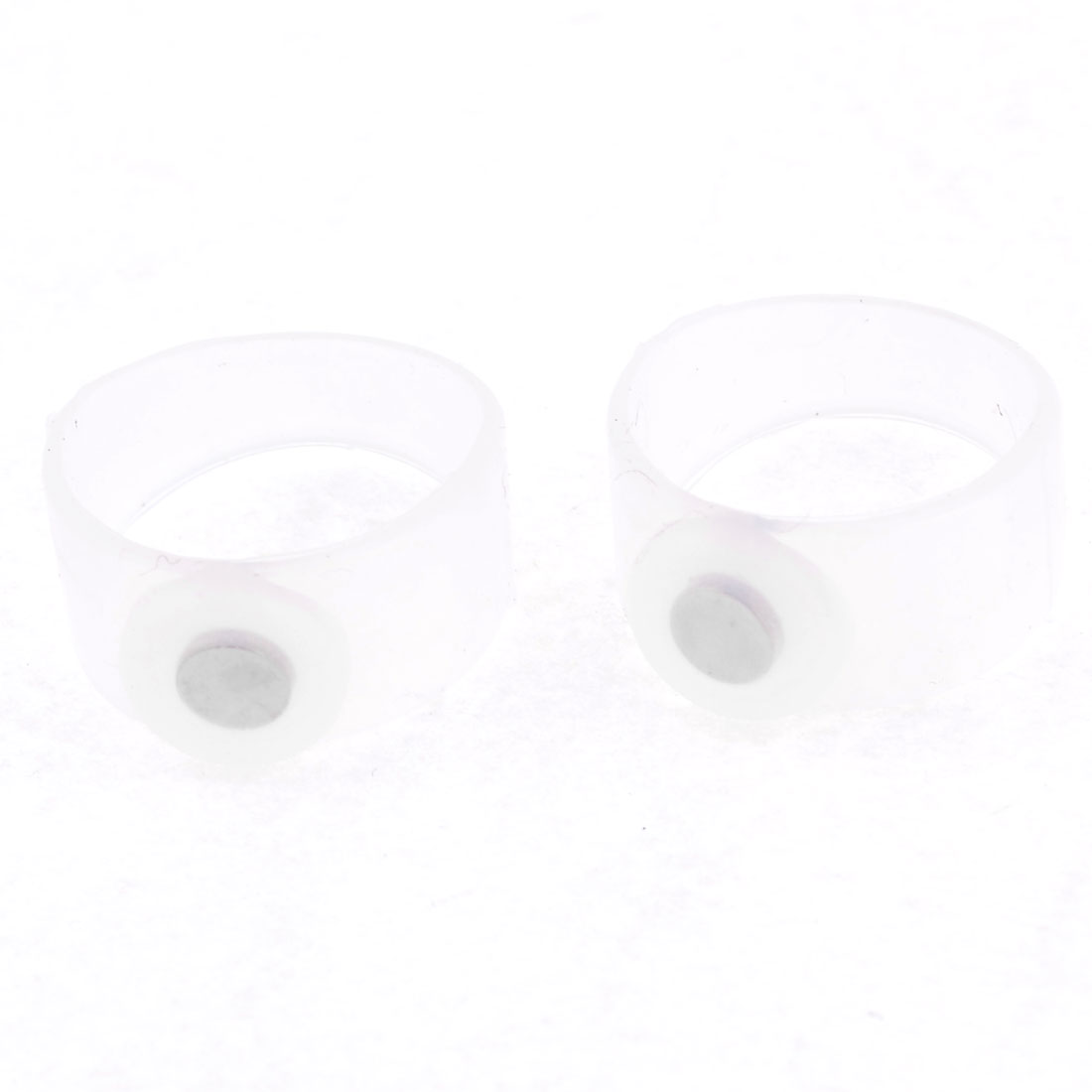 Pair Body Slimming Silicone Magnetic Toe Rings Weight Lose Tool