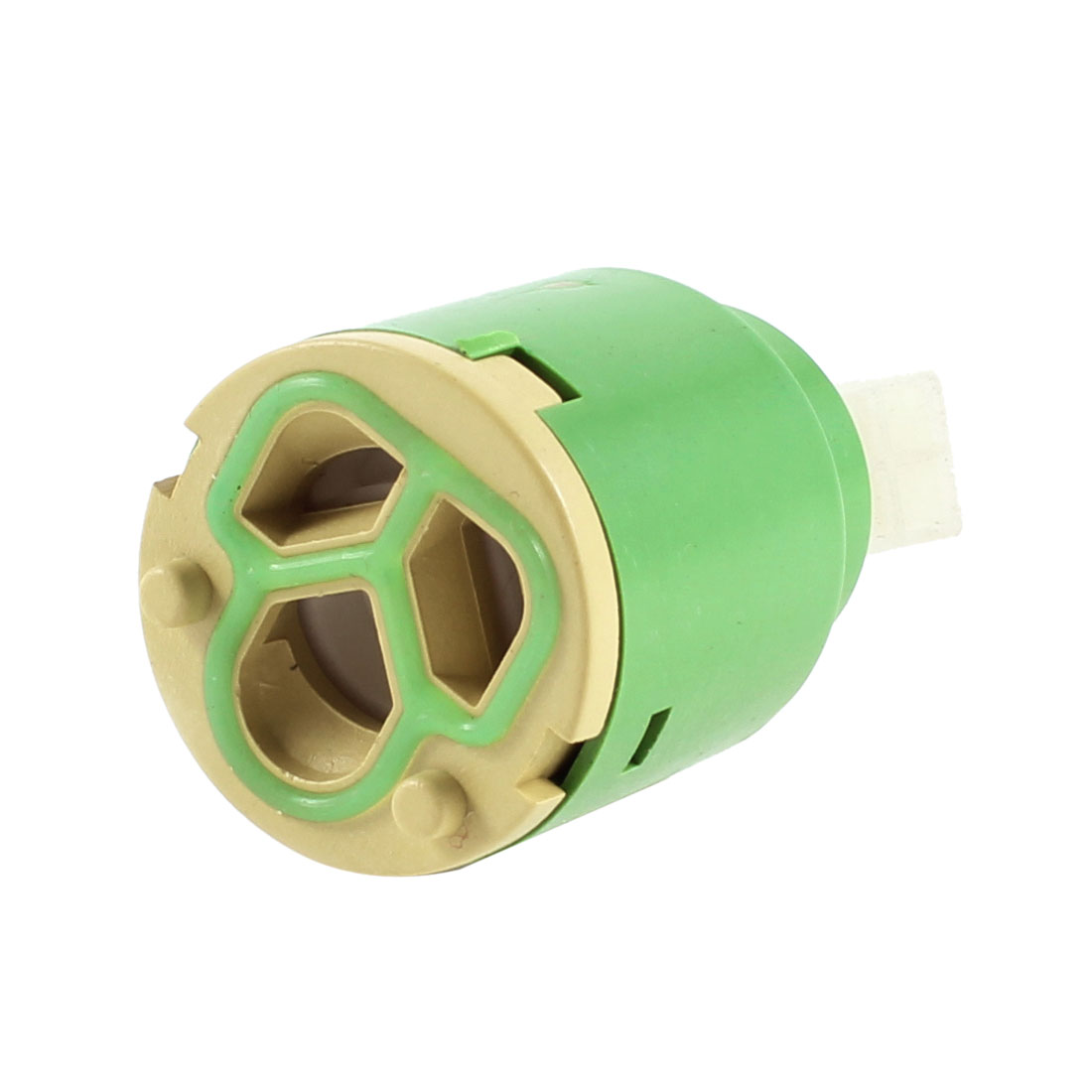 Green Rotary Lever 25mm Dia Faucet Ceramic Cartridge Valve
