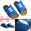 Men Casual Wear Cork Foobed Blue Slide Sandals US Size 11