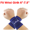 Pair Sports Protector Texturing Soft Elastic Wrist Brace Support Light Orange