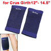 Pullover Wearing Design Textured Crus Protect Brace Support Blue Black 2 Pcs