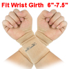 2 Pcs Pullover Design Assured Soft Textured Elastic Wrist Brace Support