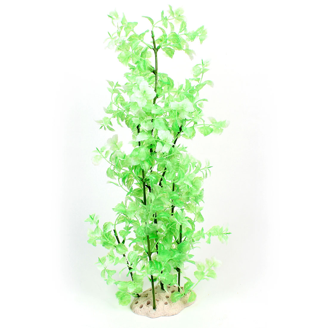 50cm Height Green White Plastic Water Grass for Fish Tank Ornament