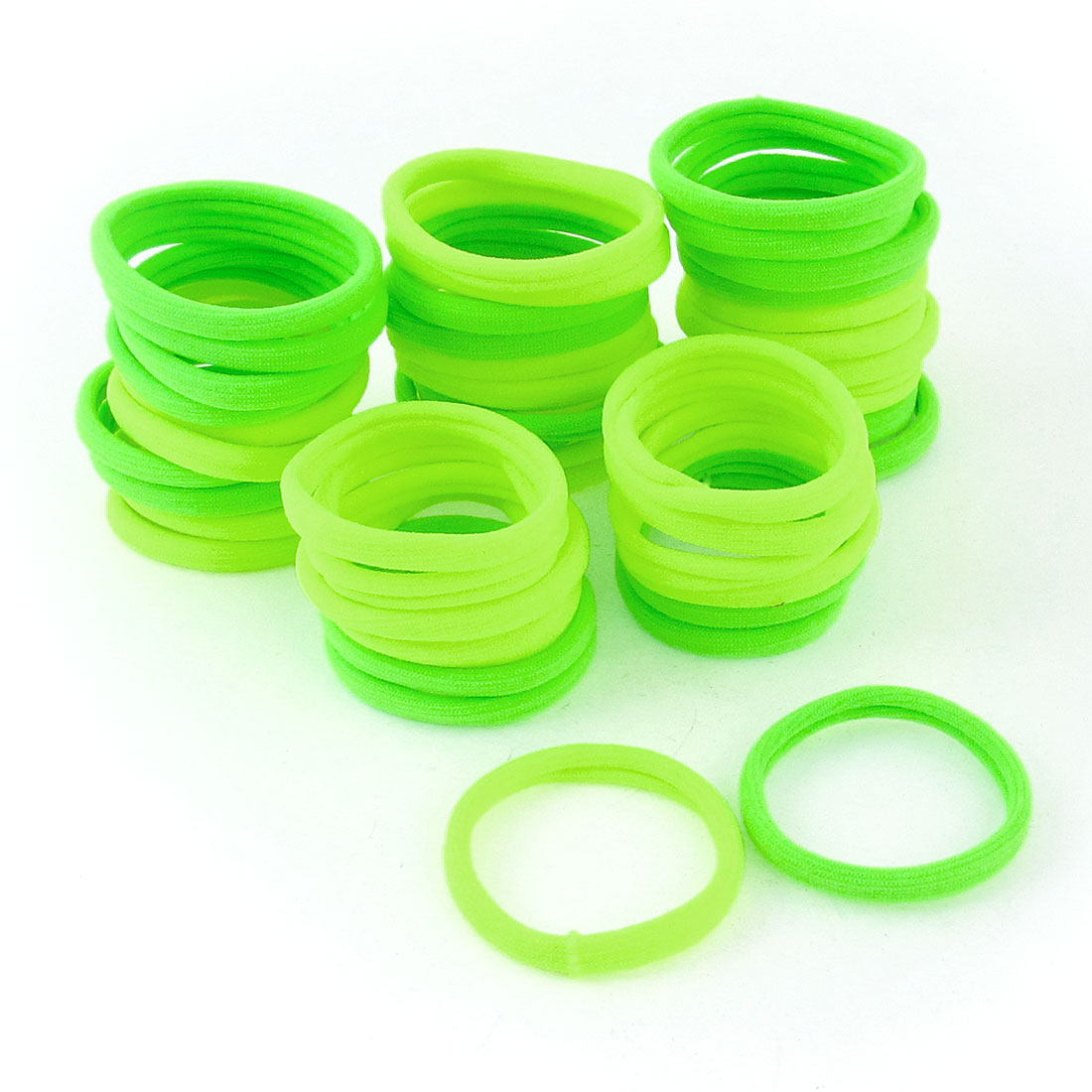 48 Pcs Yellow Green Elastic Ponytail Holders Hair Bands for Women