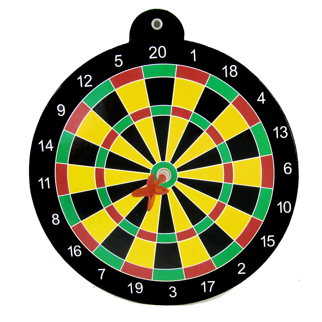 Black Wall Hanging Wing Magnet Needles Dartboard Game Tool w Yellow Dart