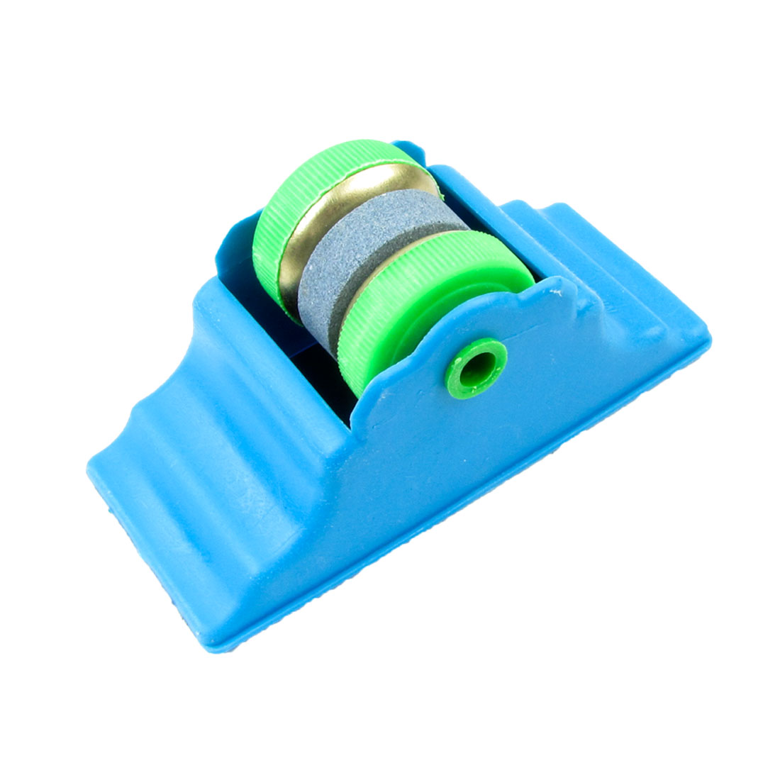 Blue Base Green Round Cutter Grit Lapped Sharpening Whetstone Home Tool