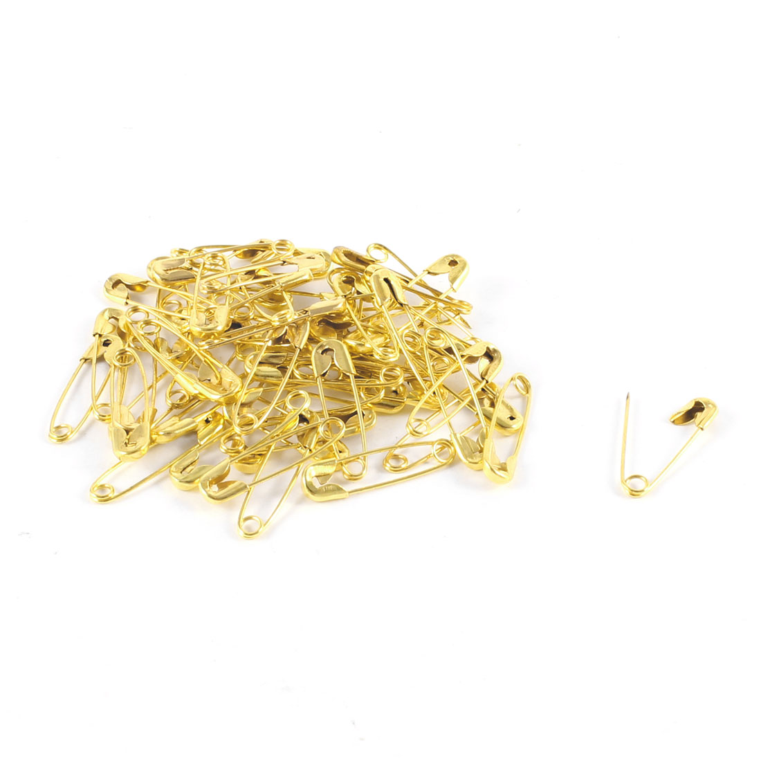 "58 Pcs Gold Tone 1"" Length Metal Locking Cloth Nappy Diaper Safety Pins"