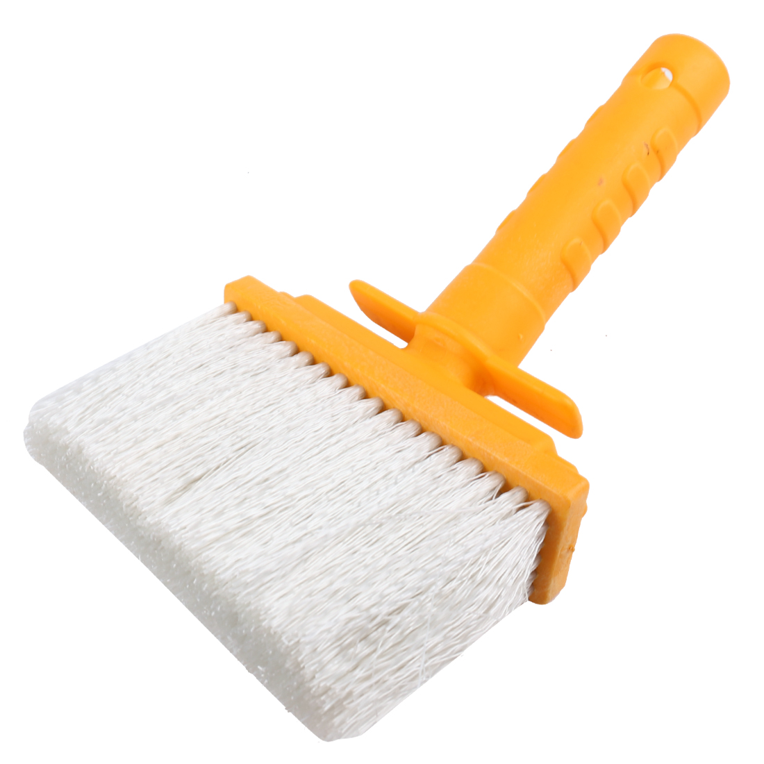 Yellow Portable Nonslip Plastic Handle White Wall Scrub Brush