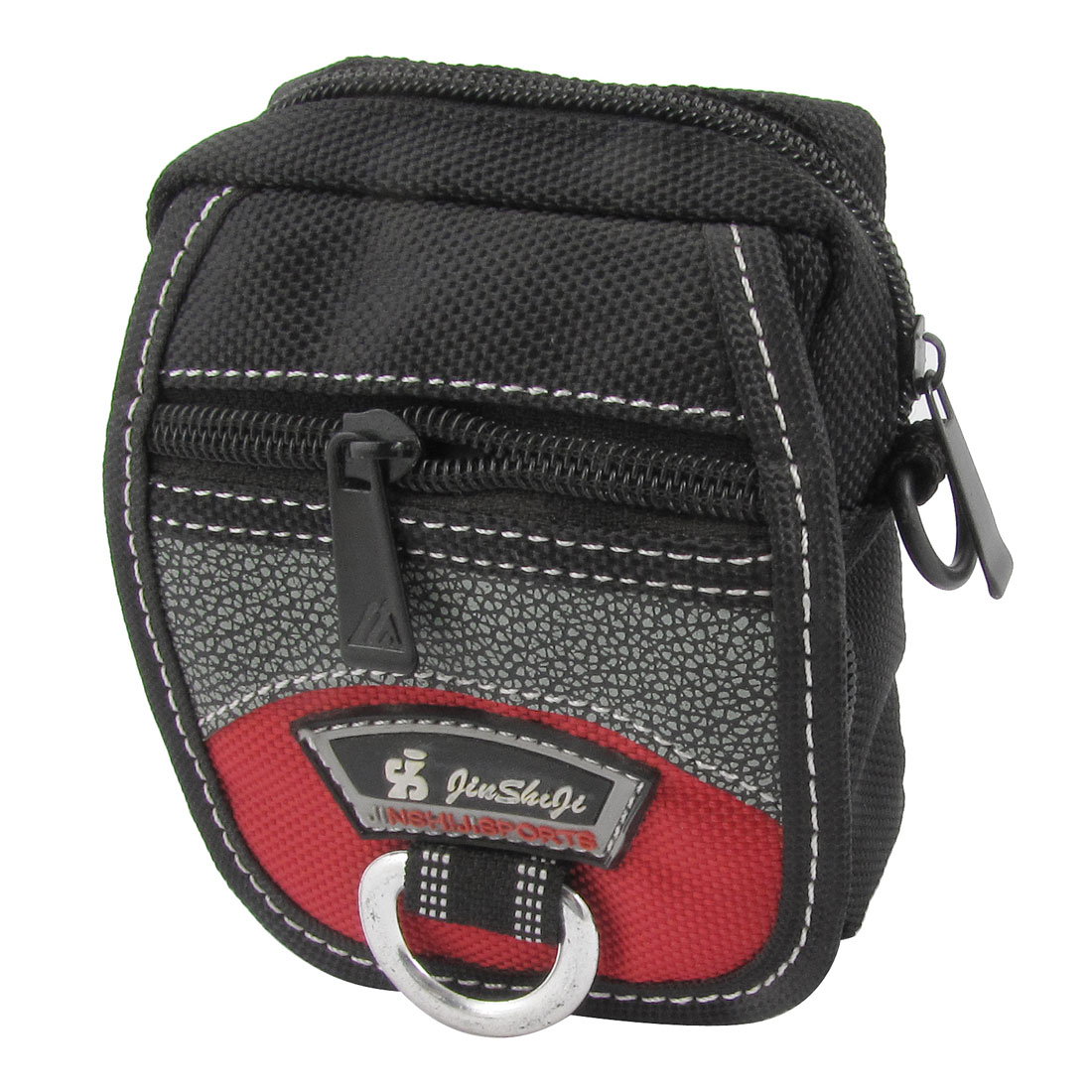 Nylon 3 Zippered Pocket Mini Camera Cell Phone Flap Bag Pouch