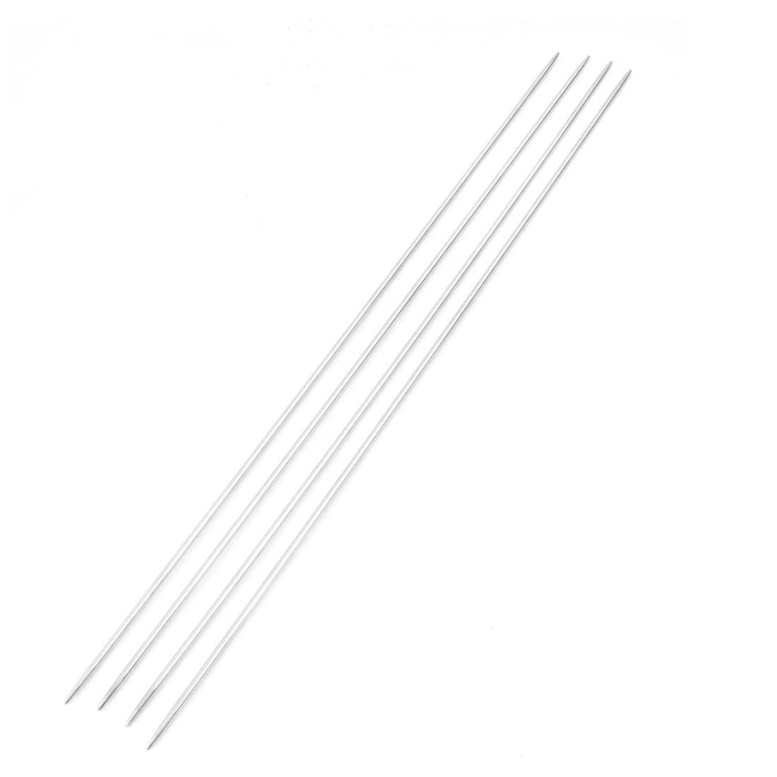 Silver Tone Sweater Weaving Hollow Double Point Knitting Needles Size 9 4 Pcs