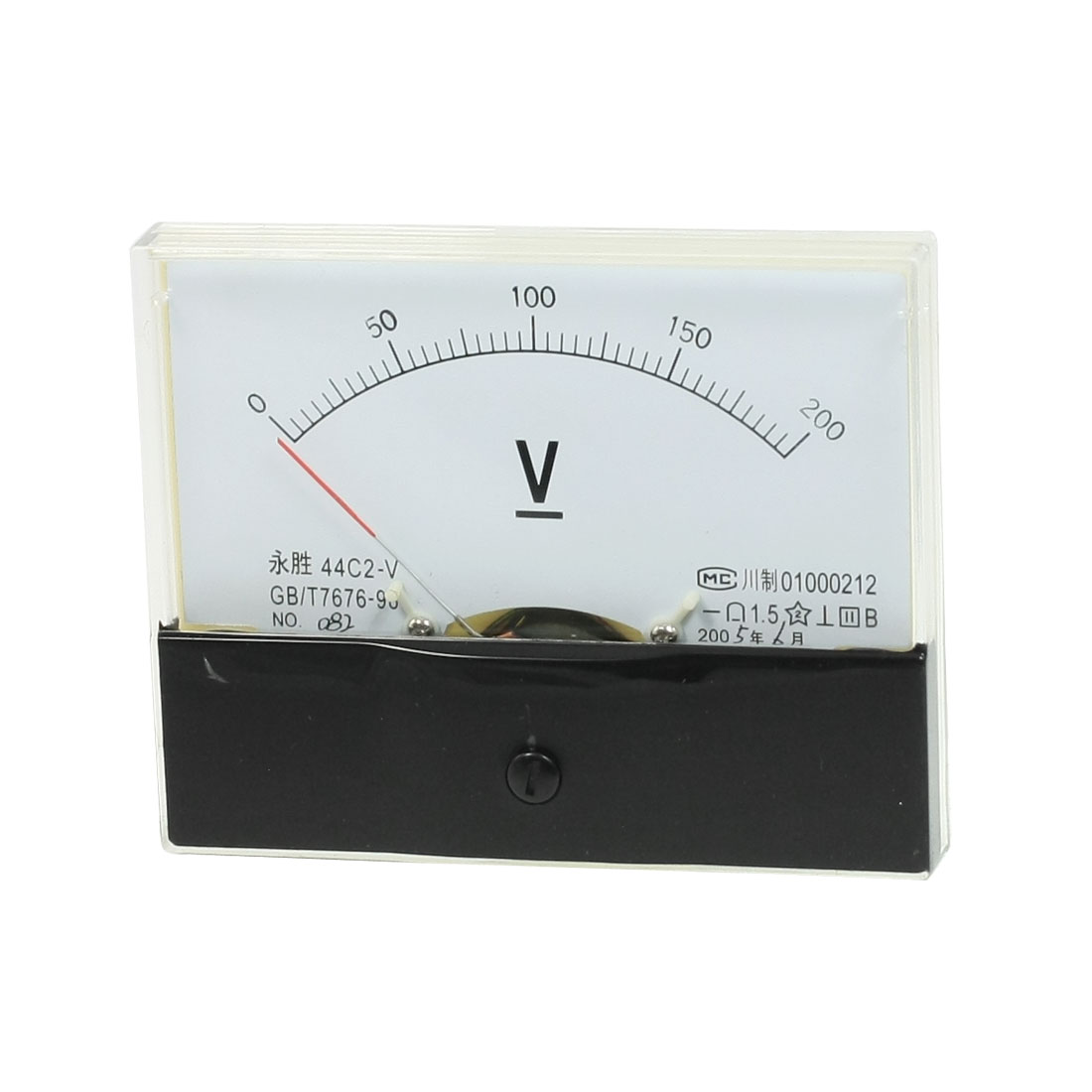 1.5 Accuracy Class Analog DC 0-200V Volt Voltage Meter Panel