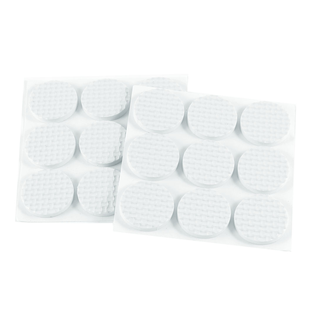 2 Packs Tables Chairs Leg Adhesive White Round Shape Foam Pad Cushion Mat