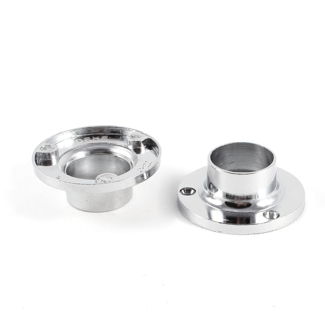 "Pair 0.9"" Dia Sliver Tone Stainless Steel Pipe Tube Weld Neck Flange"