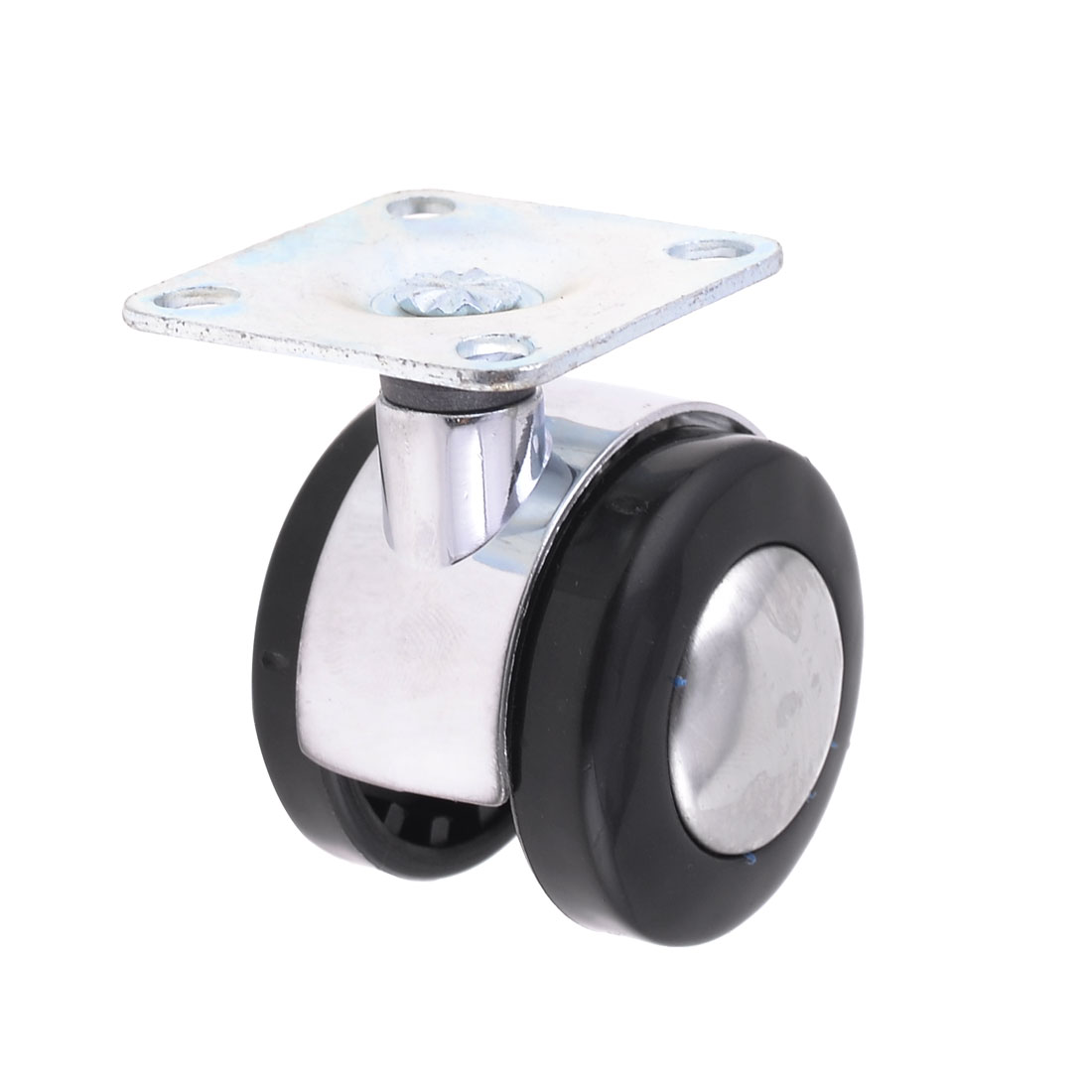 Office Chair Metal Top Plate Twin Wheel Swivel Caster 2""