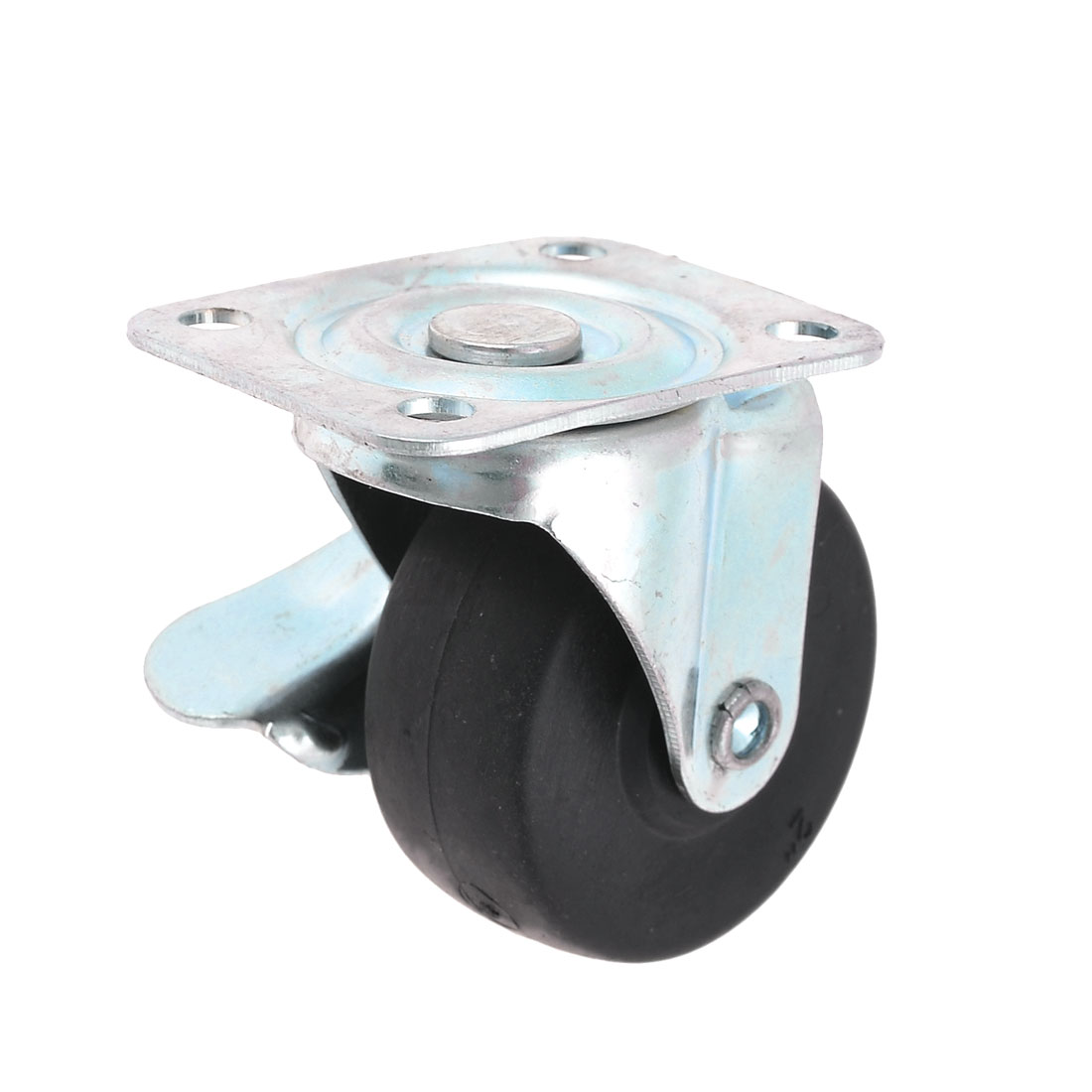 "Sickbed Laundry Cart Swivel Plate 2"" Dia PP Wheel Metal Plate Caster Black"