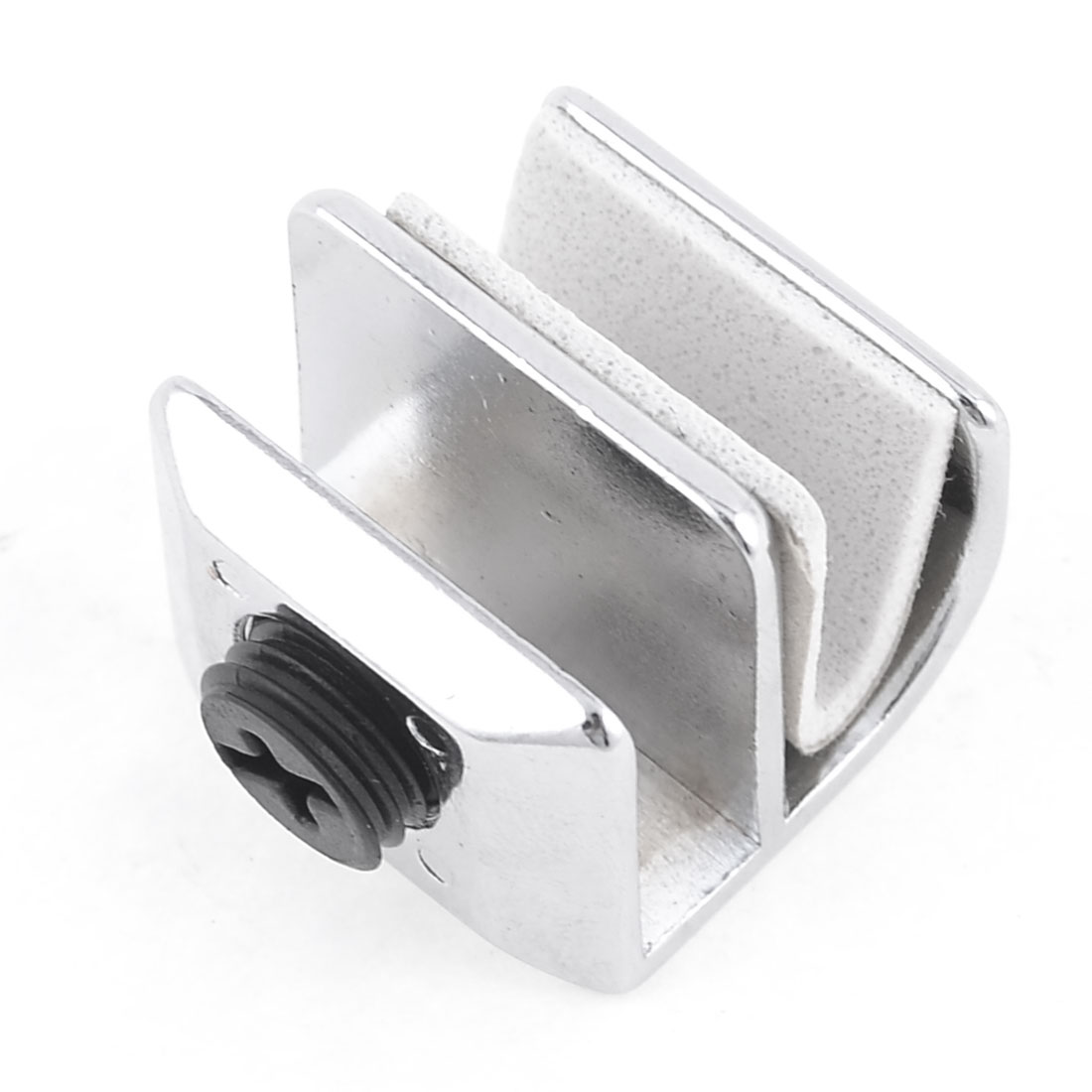 "Bathroom Wall Mounted 5/16"" 8mm Thick Glass Clip Adjusting Clamp"