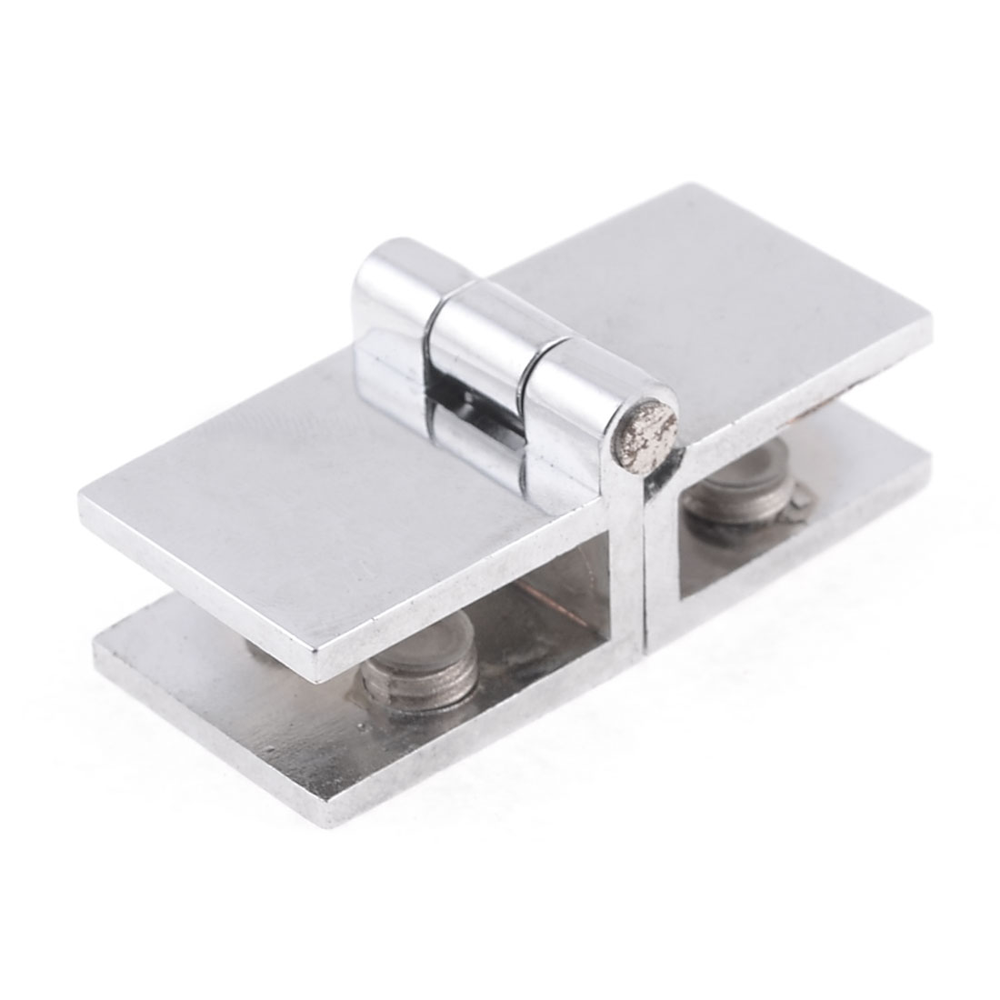 Bathroom 9mm Thickness Glass Door Hinge Silver Tone