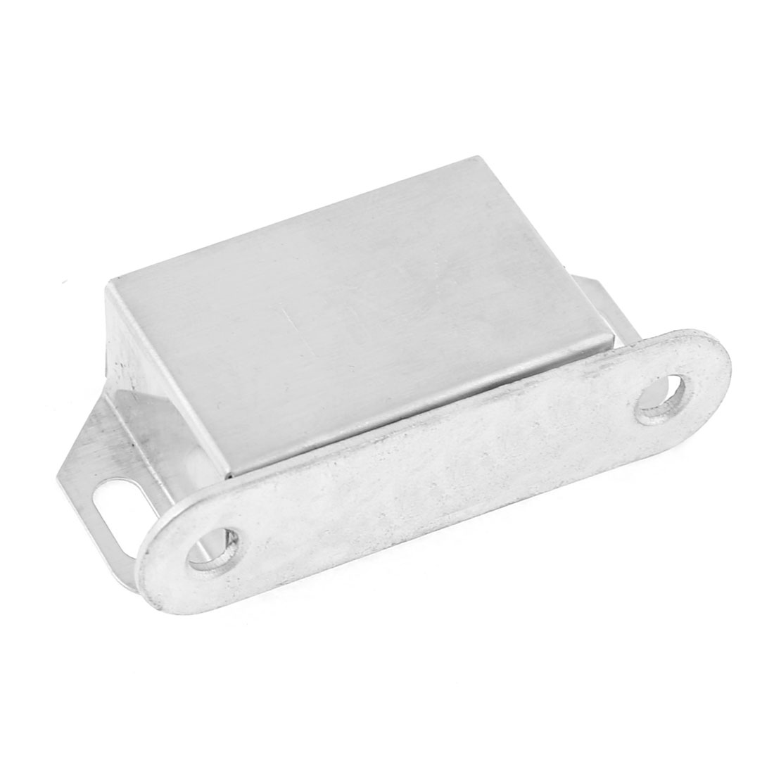 "Cabinet Spare Part Metal Plate 2.1"" Long Magnetic Catch Silver Tone"