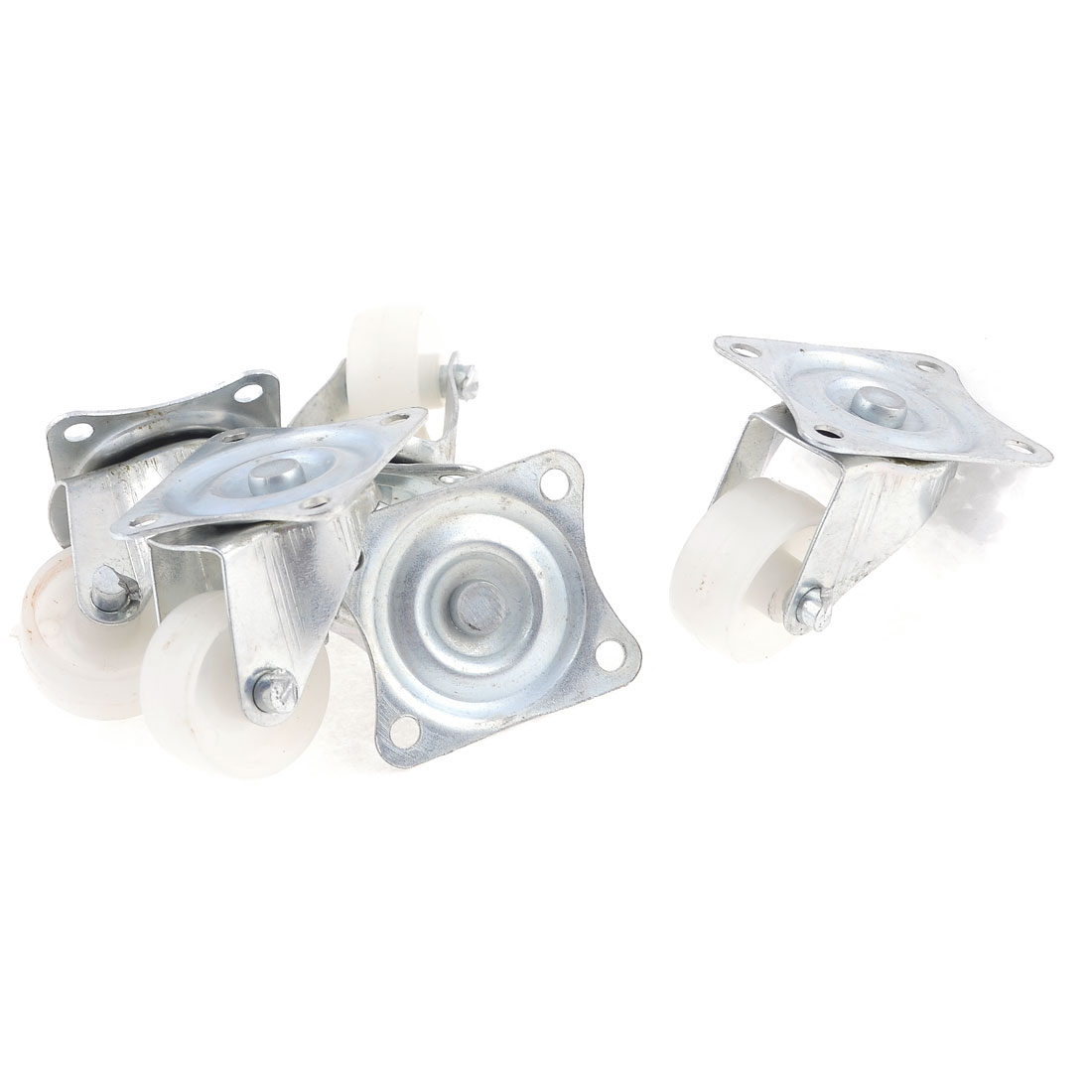 "5Pcs 0.94"" Dia Light Duty Rotary Plate Swivel Caster for Trolley"
