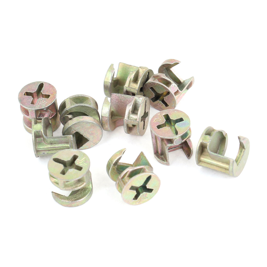 Hardware Parts 15mm Dia Furniture Connecting Cam Fittings 10PCS